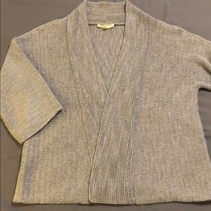 Eileen Fisher gray PS cardigan
